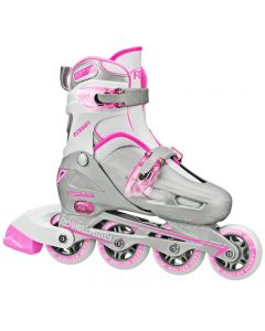 Cobra Girl's Inline Skates - Adjustable Sizes (12-1) or (2-5)