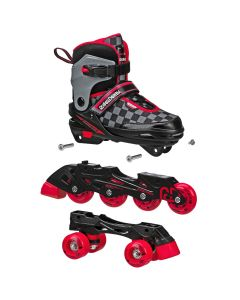 2N1 Boys Inline and Quad Skate Combo (Adjustable size 3-6)