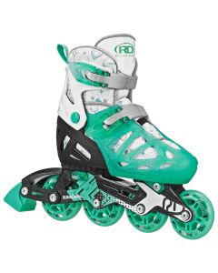 Tracer Girl's Adjustable Inline Skates (Mint)