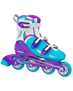 V-Tech 500 Women's Inline Skates - Adjustable from size 7 to 10 (Blue/Purple)