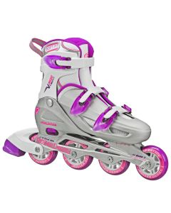 V-Tech 500 Women's Inline Skates - Adjustable from size 6 to 9 (Grey/Purple)