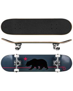 RD Deluxe Series Skateboard Gray Cali Bear