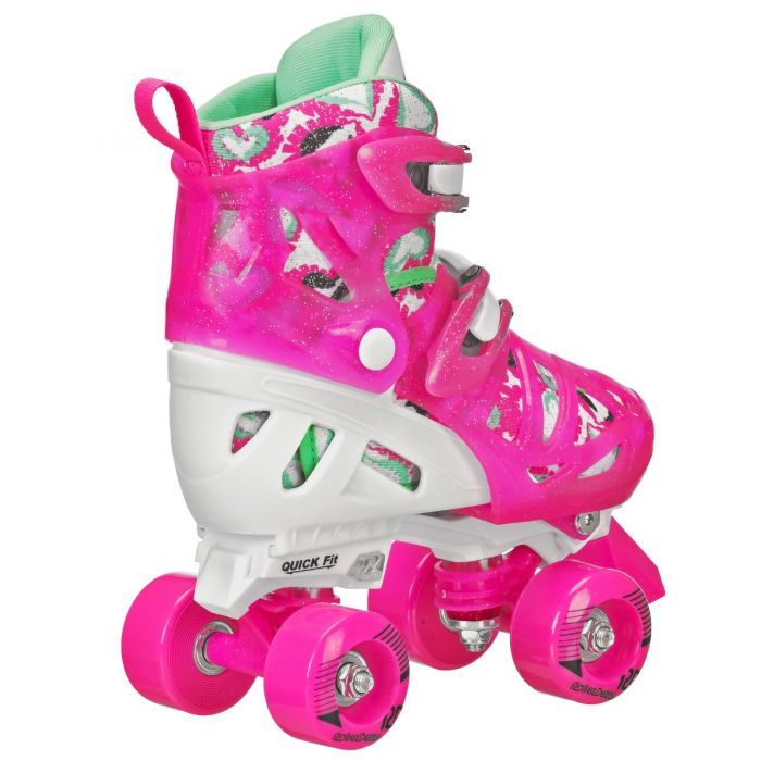 Roller Derby Trac Star Youth Girl/'s Adjustable Roller Skate White//Pink Size